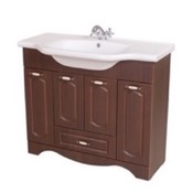Bathroom Vanity 39 Inch Wall Mounted Walnut Vanity Cabinet With Fitted Sink CLA-F06 Nameeks CLA-F06