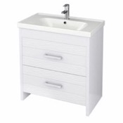Bathroom Vanity 31 Inch Wall Mounted White Vanity Cabinet With Fitted Sink LOT-F01 Nameeks LOT-F01
