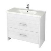 Bathroom Vanity 39 Inch Wall Mounted White Vanity Cabinet With Fitted Sink LOT-F02 Nameeks LOT-F02
