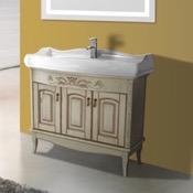 Bathroom Vanity 39 Inch Floor Standing Vanilla Vanity Cabinet With Fitted Sink Nameeks MI-F02