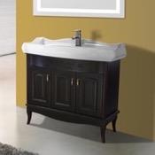 Bathroom Vanity 39 Inch Floor Standing Calvados Vanity Cabinet With Fitted Sink Nameeks MI-F04