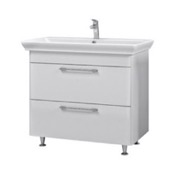 Bathroom Vanity 37 Inch Wall Mounted White Vanity Cabinet With Fitted Sink PA-F02 Nameeks PA-F02