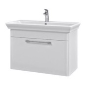 Bathroom Vanity 37 Inch Wall Mounted White Vanity Cabinet With Fitted Sink PA-W02 Nameeks PA-W02