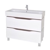 Bathroom Vanity 39 Inch Wall Mounted White Vanity Cabinet With Fitted Sink VN-F03 Nameeks VN-F03