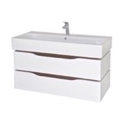 Bathroom Vanity 39 Inch Wall Mounted White Vanity Cabinet With Fitted Sink VN-W03 Nameeks VN-W03