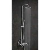 Showerpipe System Wall Mount Tub and Shower Column with Rainhead and Hand Shower Ramon Soler US-3355D200
