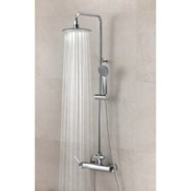 Showerpipe System Wall Mounted Shower Column with Hand Shower Set and Rainhead Ramon Soler US-3358RPN