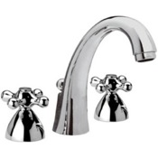 Three Hole Washbasin Mixer With Cast Spout and Pop-Up Waste