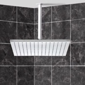 Shower Head Square Modern Shower Head with Shower Arm Remer 347S-359SSL