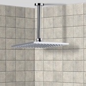 Shower Head Square Polished Chrome Ceiling Mounted Rain Shower Head with Arm Remer 347N-US-RK200