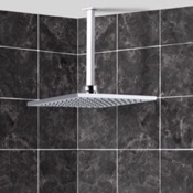 Shower Head Stainless Steel Shower Head with Arm Remer 347S-US-RK200