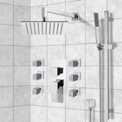 Shower Faucet Chrome Shower System with 10