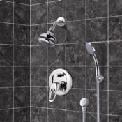 Shower Faucet Chrome Shower System with Multi Function Shower Head and Hand Shower Remer SFH08