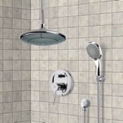 Shower Faucet Chrome Shower System with 9