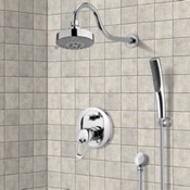 Shower Faucet Chrome Shower System with Multi Function Shower Head and Hand Shower Remer SFH6105
