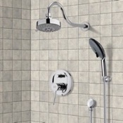 Shower Faucet Chrome Shower System with Multi Function Shower Head and Hand Shower Remer SFH6106