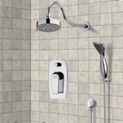 Shower Faucet Chrome Shower System with Multi Function Shower Head and Hand Shower Remer SFH6108
