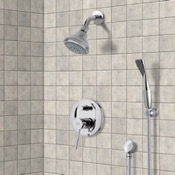 Shower Faucet Chrome Shower System with 3