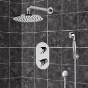 Shower Faucet Thermostatic Shower System with 8