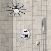 Shower Faucet Shower System with Ceiling Shower Head and Hand Shower Remer SFH6540