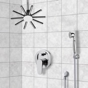 Shower Faucet Shower System with Ceiling Shower Head and Hand Shower Remer SFH6541