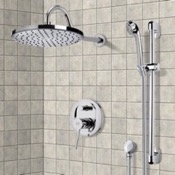 Shower Faucet Chrome Shower System with 8