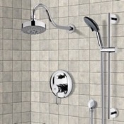 Shower Faucet Chrome Shower System with Multi Function Shower Head and Hand Shower Remer SFR7106