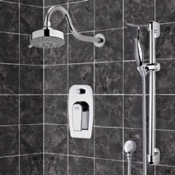 Shower Faucet Chrome Shower System with Multi Function Shower Head and Hand Shower Remer SFR7108