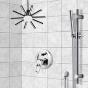 Shower Faucet Shower System with Ceiling Shower Head and Hand Shower Remer SFR7540