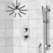 Shower Faucet Shower System with Ceiling Shower Head and Hand Shower Remer SFR7542
