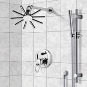Shower Faucet Shower System with 10