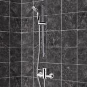 Shower Faucet Chrome Slidebar Shower Set With Multi Function Hand Shower Remer SR004