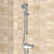 Shower Faucet Chrome Slidebar Shower Set With Multi Function Hand Shower Remer SR007