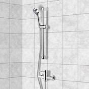 Shower Faucet Chrome Slidebar Shower Set With Multi Function Hand Shower Remer SR008