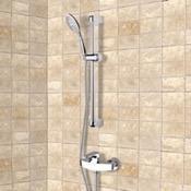 Shower Faucet Chrome Slidebar Shower Set With Multi Function Hand Shower Remer SR015