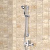 Shower Faucet Chrome Slidebar Shower Set With Multi Function Hand Shower Remer SR025