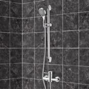 Shower Faucet Chrome Slidebar Shower Set With Multi Function Hand Shower Remer SR029