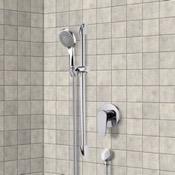 Shower Faucet Chrome Slidebar Shower Set With Multi Function Hand Shower Remer SR030