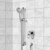 Shower Faucet Chrome Slidebar Shower Set With Multi Function Hand Shower Remer SR031