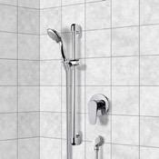 Shower Faucet Chrome Slidebar Shower Set With Multi Function Hand Shower Remer SR032