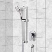 Shower Faucet Chrome Slidebar Shower Set With Multi Function Hand Shower Remer SR033