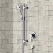 Shower Faucet Chrome Slidebar Shower Set With Multi Function Hand Shower Remer SR034