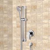 Shower Faucet Chrome Slidebar Shower Set With Multi Function Hand Shower Remer SR035