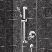 Shower Faucet Chrome Slidebar Shower Set With Hand Shower Remer SR036
