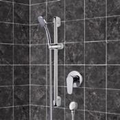 Shower Faucet Chrome Slidebar Shower Set With Hand Shower Remer SR037