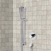 Shower Faucet Chrome Thermostatic Slidebar Shower Set With Hand Shower Remer SR038