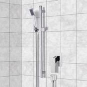 Shower Faucet Chrome Slidebar Shower Set With Hand Shower Remer SR039