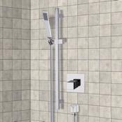 Shower Faucet Chrome Thermostatic Slidebar Shower Set With Hand Shower Remer SR040