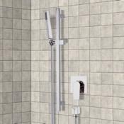 Shower Faucet Chrome Slidebar Shower Set With Hand Shower Remer SR041