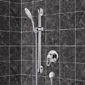 Shower Faucet Chrome Slidebar Shower Set With Multi Function Hand Shower Remer SR042